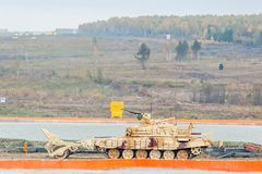 Armoured deminer BMR-3M moves. Russia Royalty Free Stock Photos