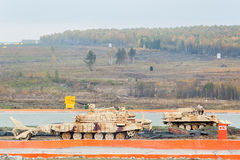 Armoured deminer BMR-3M moves. Russia Royalty Free Stock Photo