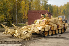 Armoured deminer BMR-3M. Russia Stock Photo