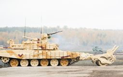 Armoured deminer BMR-3M (Russia). BMR-3M. Armoured deminer to demine pathways for column march. Uralvagonzavod production. Russia Royalty Free Stock Image