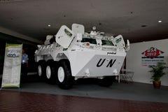 Armoured Fighting Vehicle 'RIMAU 6x6'. KUALA LUMPUR, MALAYSIA-APRIL 16: 'RIMAU 6x6' an Indonesian made armoured fighting vehicle on display for public viewing at Royalty Free Stock Image
