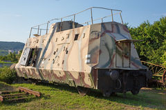 Armoured German wagon form second world war. Combat train Royalty Free Stock Photos