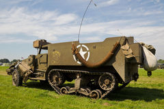 Armoured half track vehicle Stock Photography