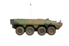 Armoured Infantry Vehicle. APC / AMV vehicle Rosomak isolated on white background royalty free stock photo