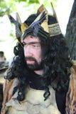 Armoured medieval warrior Royalty Free Stock Photos