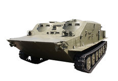 Armoured personnel carrier. Tracked and isolated royalty free stock photos