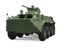 Armoured Personnel Carrier Isolated. On white background. 3D render Stock Photography