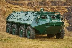 Armoured Personnel Carrier. Soviet Eight-wheeled Armoured Personnel Carrier BTR Stock Photography
