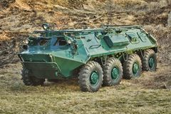 Armoured Personnel Carrier. Soviet Eight-wheeled Armoured Personnel Carrier BTR Stock Photos