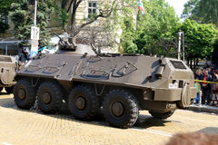 Armoured personnel carriers BTR-60 PB MD1 on military hardware parade. Sofia, Bulgaria - May 06: Day of Valor. Armoured personnel carriers BTR-60 PB MD1on Royalty Free Stock Photos