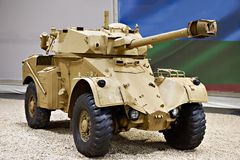 Armoured Scout Car. French armoured scout car Panhard AML-245 Royalty Free Stock Image
