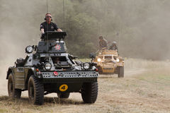 Armoured scout cars Stock Photography