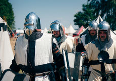 Armoured Teutons marching royalty free stock photos