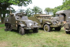 Armoured Truck. Waterlooville, UK - May 28, 2017: World War 2 American army armoured truck on display at a military vehicle show Stock Image
