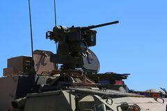 Armoured vehicle close up. Close up of armoured vehicle gun turret Stock Photography