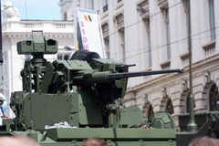 Armoured vehicle displayed at Belgium National Day Stock Images