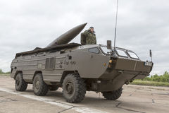 Armoured vehicle for infantry combat with missile Stock Image