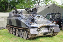Armoured Vehicle. Waterlooville, UK - May 28, 2017: Armoured vehicle on display at a military vehicle show Stock Photography