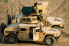 Armoured Vehicles in Afghanistan. In 2017 Stock Images