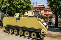 Armoured vehicles and soldiers in front of the National Museum i Stock Photos