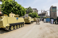 Armoured vehicles and soldiers in front of the National Museum i Stock Photo