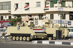 Armoured vehicles in Tahrir Square, Cairo, Egypt Stock Photo