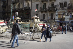 Armoured vehicles in Tahrir Square, Cairo, Egypt Stock Photography