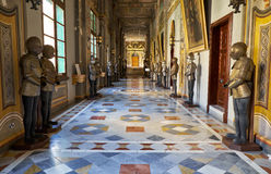 The Armoury corridor on the main floor of the Grandmaster`s Pala Stock Photos