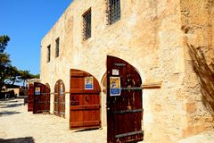 Armoury in Rethymno castle, Crete. Stock Photography