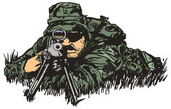 arméprickskytt Arkivbilder