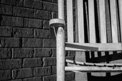 Armrest μιας λικνίζοντας έδρας στοκ φωτογραφίες