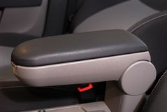 Armrest of the car and handbrake Royalty Free Stock Photo