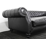 Armrest leather sofa Stock Photos