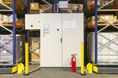 Armário de controle do armazenamento Imagem de Stock