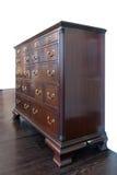 Armário de madeira de Brown. Imagens de Stock Royalty Free