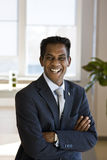 arms business folded indian laughing man Στοκ εικόνα με δικαίωμα ελεύθερης χρήσης