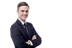 arms businessman crossed smiling Στοκ εικόνα με δικαίωμα ελεύθερης χρήσης