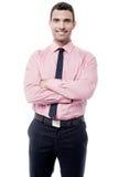 arms businessman crossed smiling Στοκ φωτογραφίες με δικαίωμα ελεύθερης χρήσης