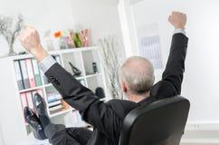 arms businessman his stretching Στοκ Εικόνα