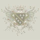 arms coat de fleur grunge lis 库存照片