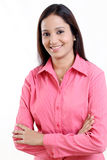 Arms crossed business woman Royalty Free Stock Images