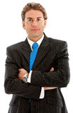 Arms crossed businessman Stock Image