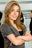 Arms crossed businesswoman Stock Photo