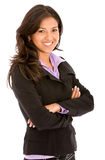 Arms crossed businesswoman Royalty Free Stock Image