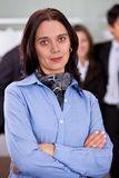 Arms crossed businesswoman Royalty Free Stock Photography