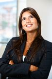 Arms crossed businesswoman Royalty Free Stock Photos