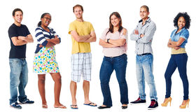 Arms crossed confident Stock Image
