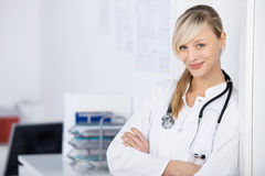 Arms crossed doctor Royalty Free Stock Photos
