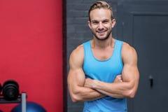 arms crossed man muscular Στοκ εικόνες με δικαίωμα ελεύθερης χρήσης