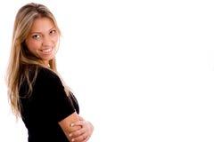 arms crossed portrait smiling woman Στοκ φωτογραφίες με δικαίωμα ελεύθερης χρήσης